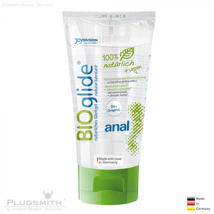 BIOglide anal, 80 ml wasserbasiertes natürliches Gleitgel.