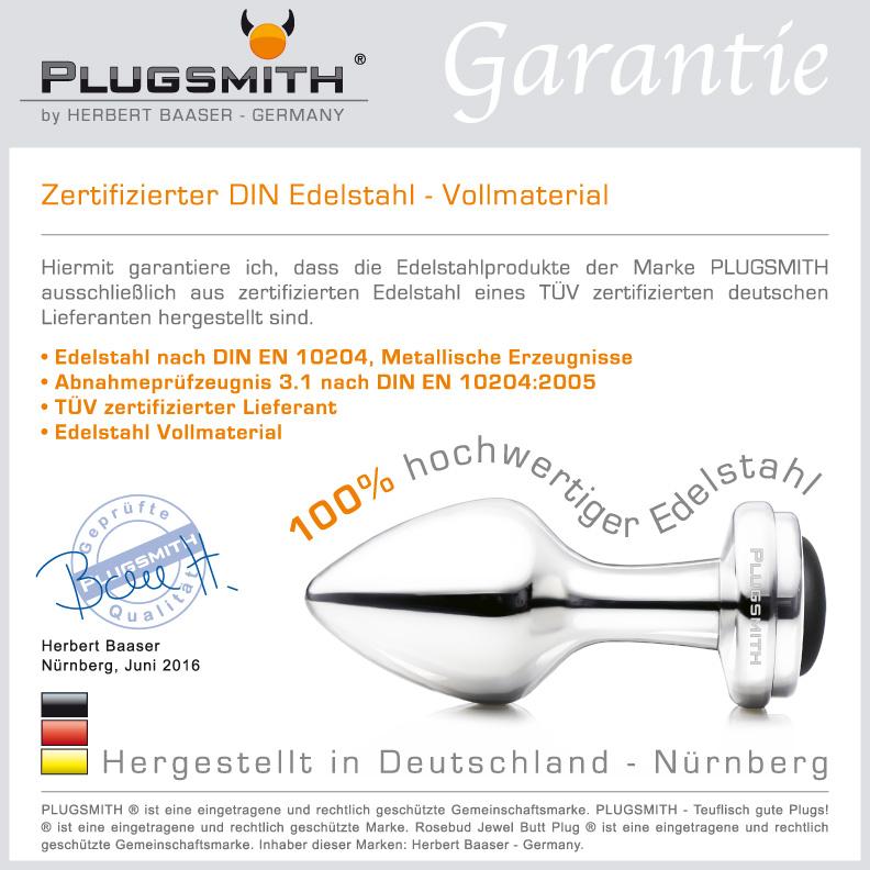 PLUGSMITH Zertifikat