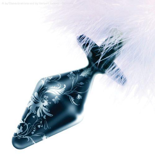 Glas Butt Plug mit Bunny Tail