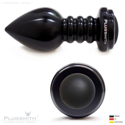 Schwarzer grosser Analplug (Butt Plug).