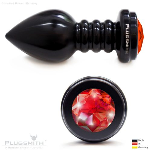 Buttplug mit rotem Stein