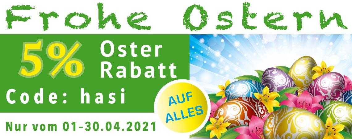 5% Rabatt zu Ostern 2021.
